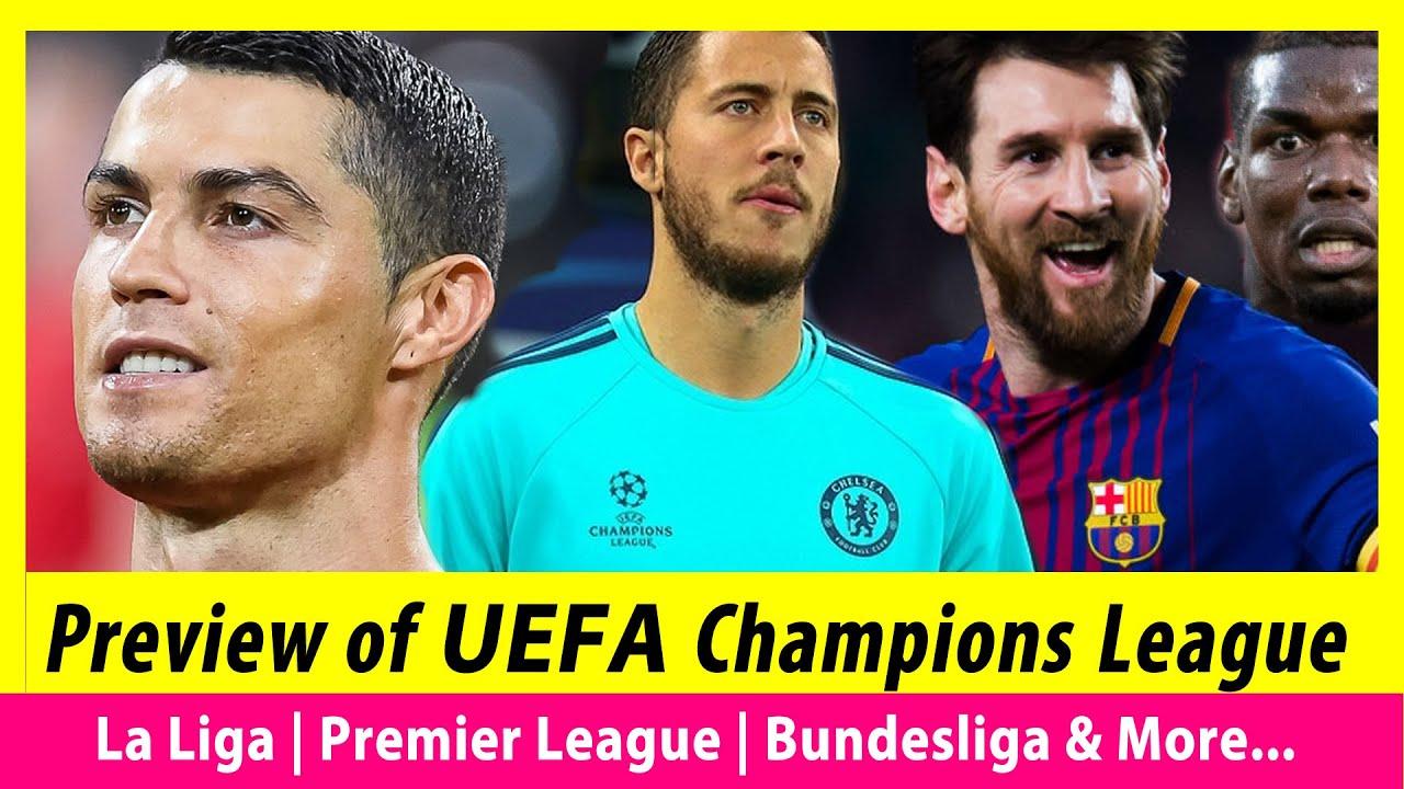 Preview of UEFA Champions League   La Liga   English Premier League    2019-2020 Season