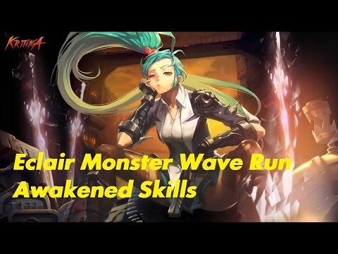 Kritika | White Knights | Android | Awakened Eclair | Monster Wave with Awakened Skills