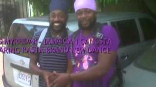 RAS MYRHDAK 1ST KING- JAMAICAN GANGSTA (RASTA BRAND NEW DANCE).mov