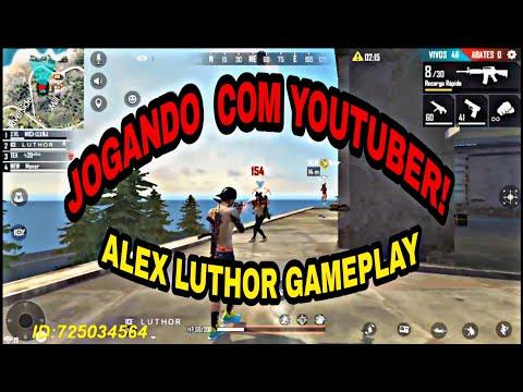 BOOYAH JOGANDO COM YOUTUBER ALEX LUTHOR GAMEPLAY!!!