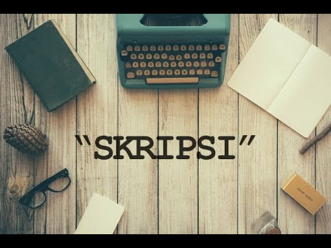 Panduan Penulisan Tugas Akhir Proposal Skripsi Hasil Penelitian Bab 2 Youtube