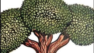 How to draw a tree | mural art