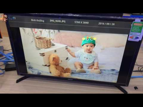 Soc - (How to use) Cách sử dụng USB trên Tivi Samsung 32 inch UA32J4003