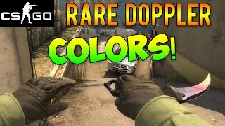 CS GO - Doppler Knives Rare Colors! Yellow, Green, & Purple Dopplers!
