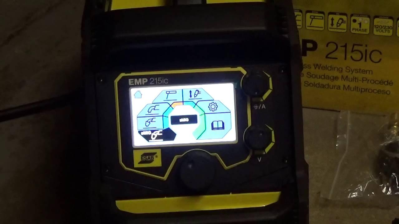 Esab Rebel EMP 215ic Welder unboxing - 2