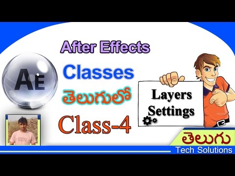 After Effects Classes In Telugu | Layers Settings | Class-4 | Telugu Tech Solutions!!!