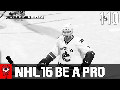 NHL 16 Be A Pro - Nashville Predators vs Vancouver Canucks Ep.110