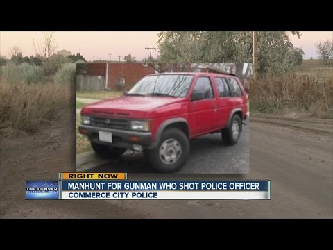 Search on for maroon Nissan Pathfinder, driver that shot Commerce City cop