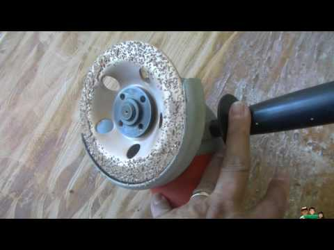 Removing Thinset from Wood using a Grinder with Cup Wheel