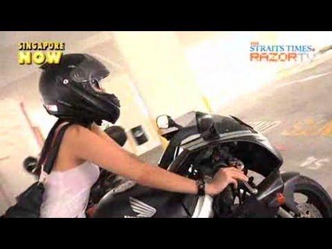 Challenge Between Biker Girl And Guy Girls On Bikes Pt 2