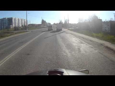 Дорога из Иванова в Тейково на Gsf1200s