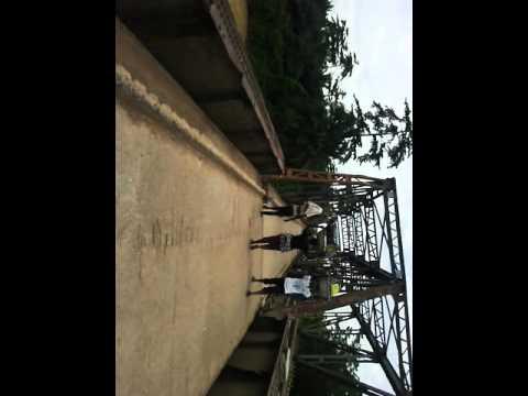 Akyem Oda birim bridge under renovation.