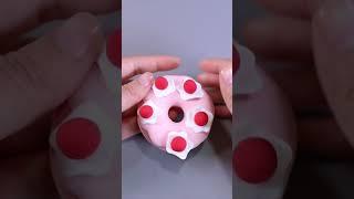 Clay art tiktok donut polymer clay art  clay toy Making toy clay for kids  42