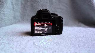Canon EOS Rebel SL1 / Kiss X7 / 100D DSLR camera - unboxing - 360° view - samples - menu browsing