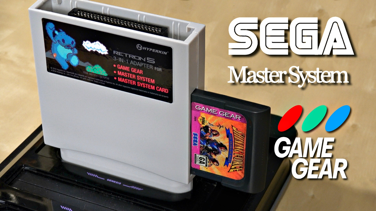 game gear colors : Play Sega Game Gear Master Systems Games In Hd Retron 5 Adapter Review