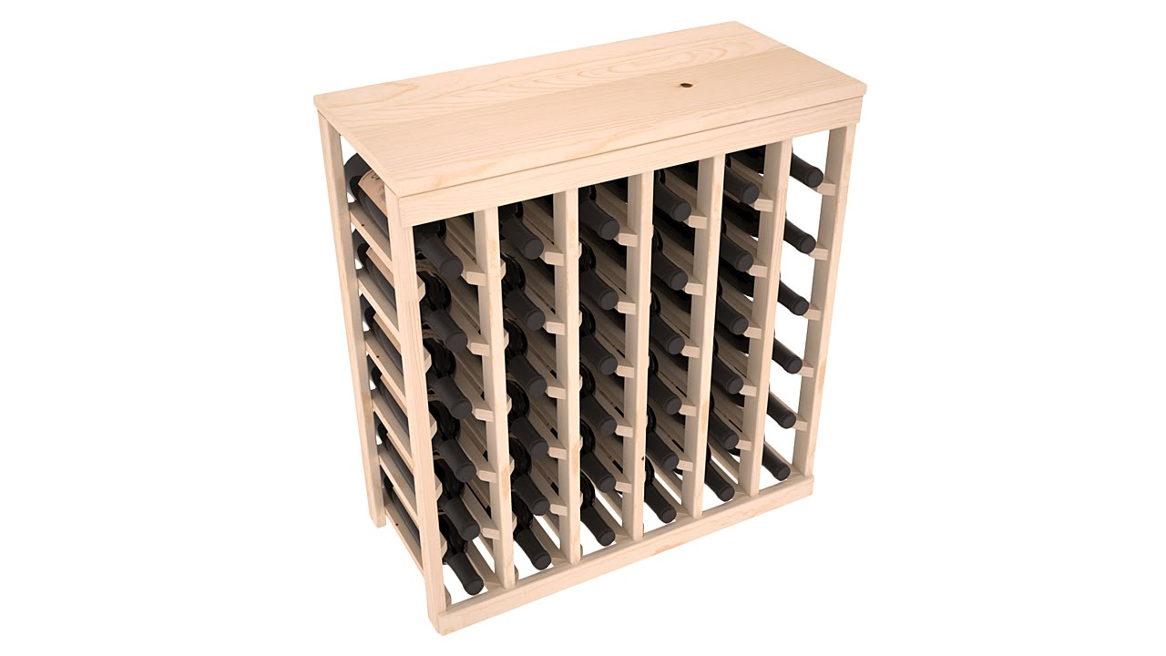 13 Stains to Choose From! 64 Bottle Cabinet Style Wine Storage Rack Kit in Ponderosa Pine
