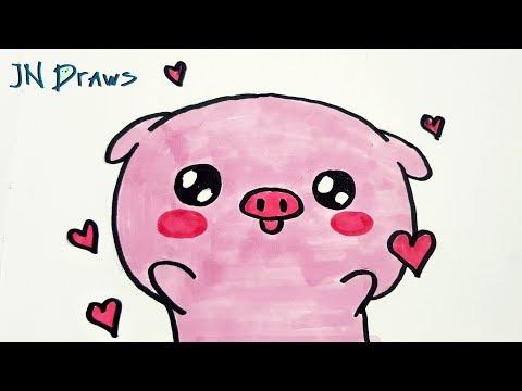 Рисуем Свинку Простые Рисунки Заполняем Скетчбук Годные Пикчи В Стиле Каваии