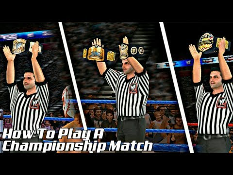 How To Play Any Championship/Title Match In Svr11(Easy Way. No Universe Mode) |BK WWE