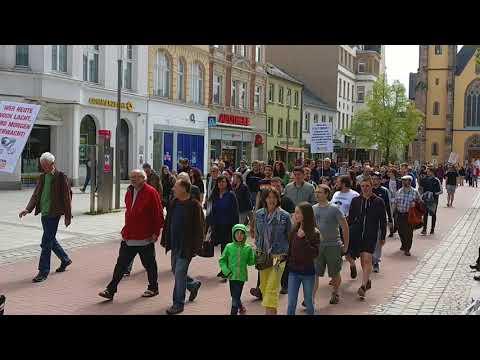 Hof 28.04.18 Marsch bei Demo gegen das Bay.#PAG - #NoPAG - #HofSaale