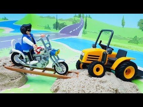Мультики про машинки - мультик для детей с игрушками Плеймобил - Ночные статуи!