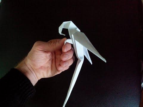 Попугай оригами, origami parrot (Manuel Sigro)