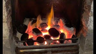 Gambar cover Proper Real Coal Fire in a Fireplace at My House [HD]