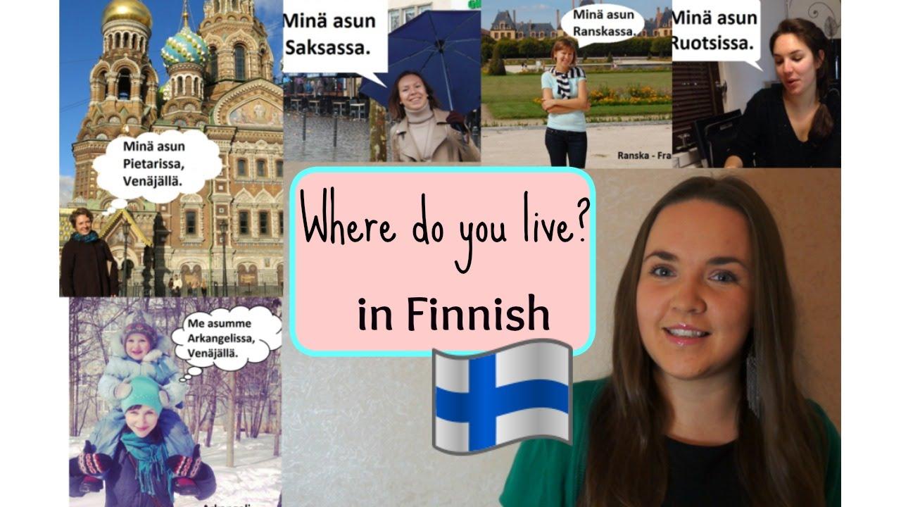 Finnish lesson 11. Where do you live? - Missä sinä asut ...