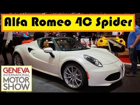 Alfa Romeo 4C Spider, live photos at 2015 Geneva Motor Show