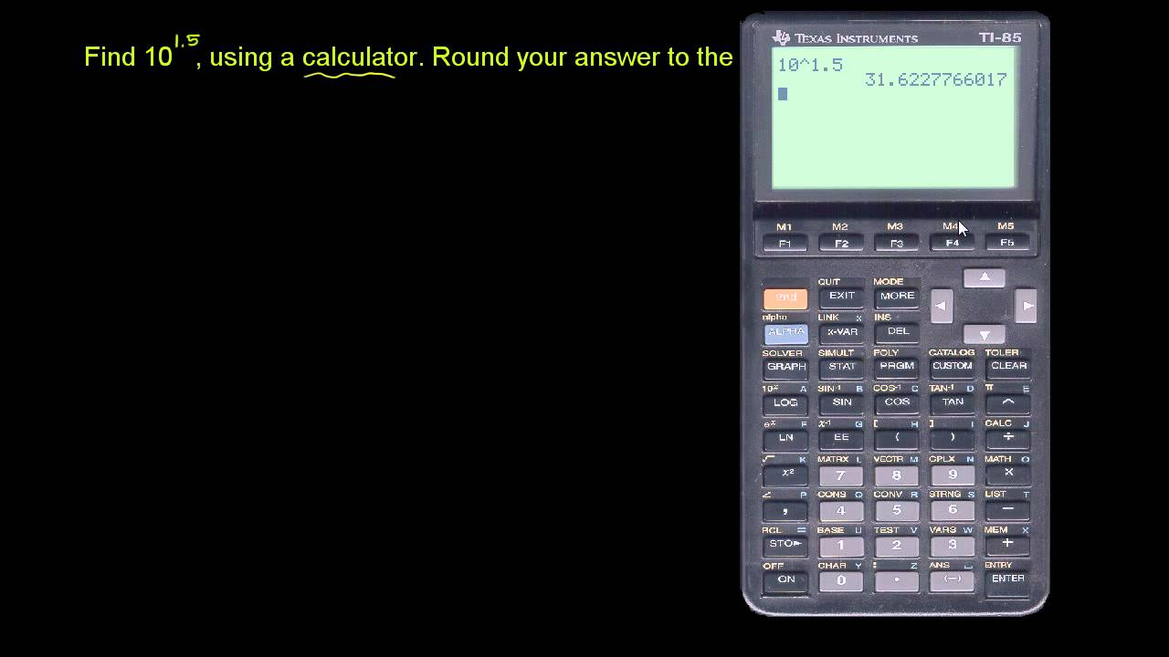 calculator for powers of 10 youtube