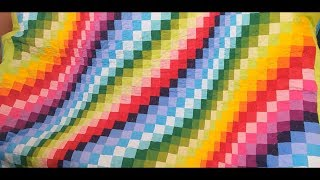 Плед в стиле барджелло своими руками. часть 1 DIY #patchwork#diy#лоскутноешитье#пэчворк