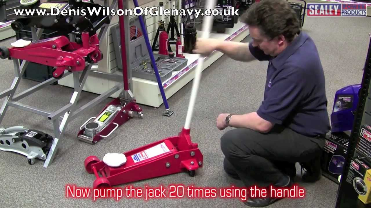 Sealey Trolley Jack Bleeding Procedure Youtube