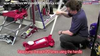 sealey trolley jack bleeding procedure