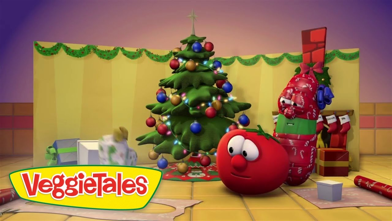 Veggietales wrapped myself up silly song youtube for Christmas house music