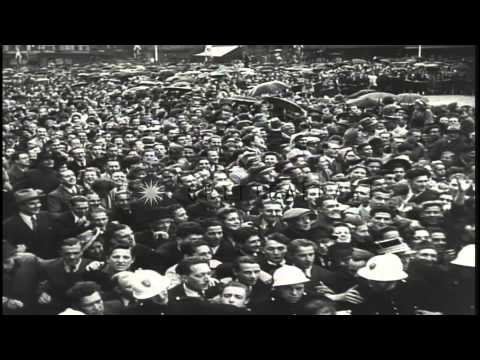 Communist demonstrations in Paris, France. HD Stock Footage