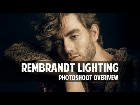 Photoshoot Light Setup For Rembrandt Lighting With Single Light. Photoshoot Overview.