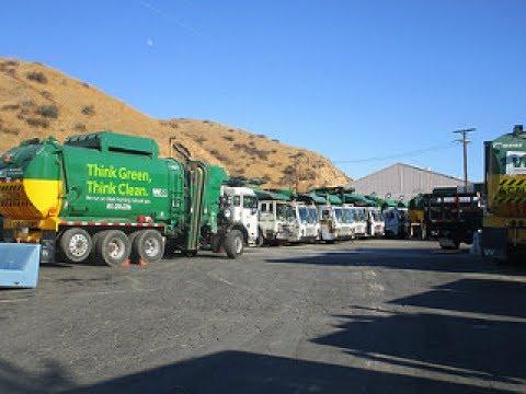Waste Management Blue Barrel Disposal Truck Compilation !