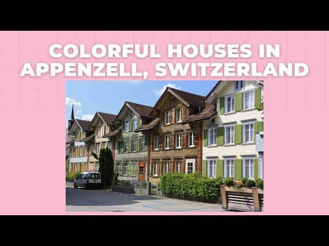 Colorful Houses In Appenzell, Switzerland