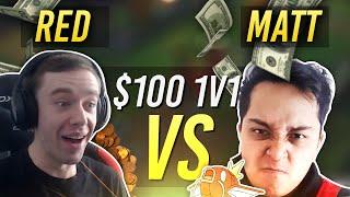 RED VS MAGIKARPUSEDFLY | $100 1v1 SHOWDOWN!! - League of Legends