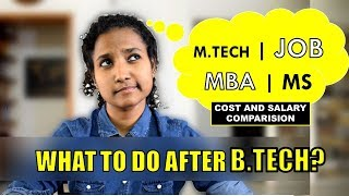 Top 10 MBA - What to do after Engineering? MBA or Job or M.Tech or MS? (Fees and Salary Comparison)