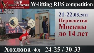 21-22.03.2015.HOHLOVA-40.(24,25/30,33).Moscow Championship to 14 years.