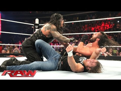 Thumbnail: Roman Reigns & Dean Ambrose vs. Kane & Seth Rollins - No Disqualification Tag Team Match: Raw, June