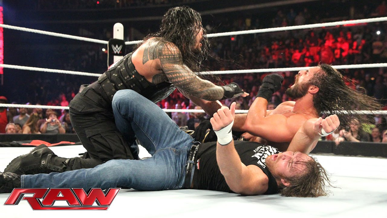Roman Reigns & Dean Ambrose vs. Kane & Seth Rollins - No Disqualification Tag Team Match: Ra