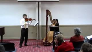 Camille Saint-Saëns - Fantaisie, for Violin and Harp - Excerpt 2