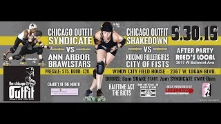 The Chicago Outfit Roller Derby - Bout to Benefit Between Friends - LIVE!