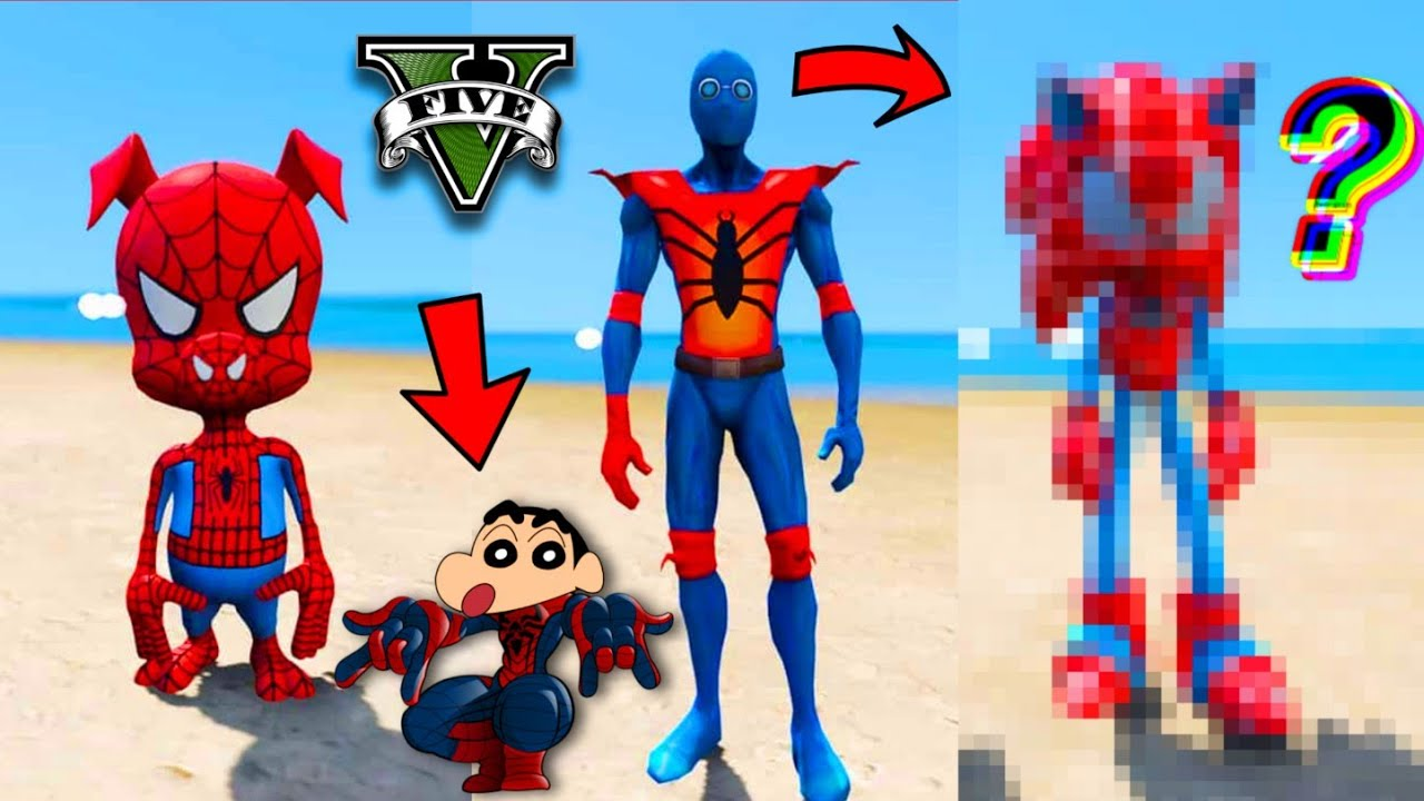 GTA 5 : SHINCHAN DID THE SPIDERMAN TIME GAME CHALLENGE IN GTA V !