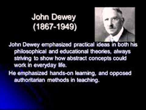 the purpose of education for young children in light with john deweys educational philosophy The interest that he was developing in early education came directly from his experience with his own children an old friend of the deweys described the family in action thomas trueblood, who had lived in the same boarding house with alice chipman and john in the fall of 1884, described a dinner at the dewey house after the births of fred and evelyn.