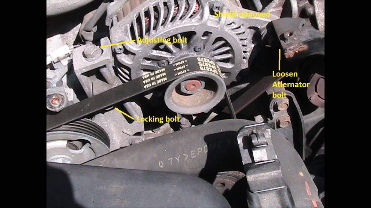 Subaru Outback 2008 Alternator Belt Adjustment Youtube