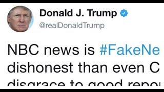 TRUMP DROPS HAMMER ON ALL FAKE NEWS NETWORKS WITH 2 TWEETS CNN AND NBC ARE SCREWED!