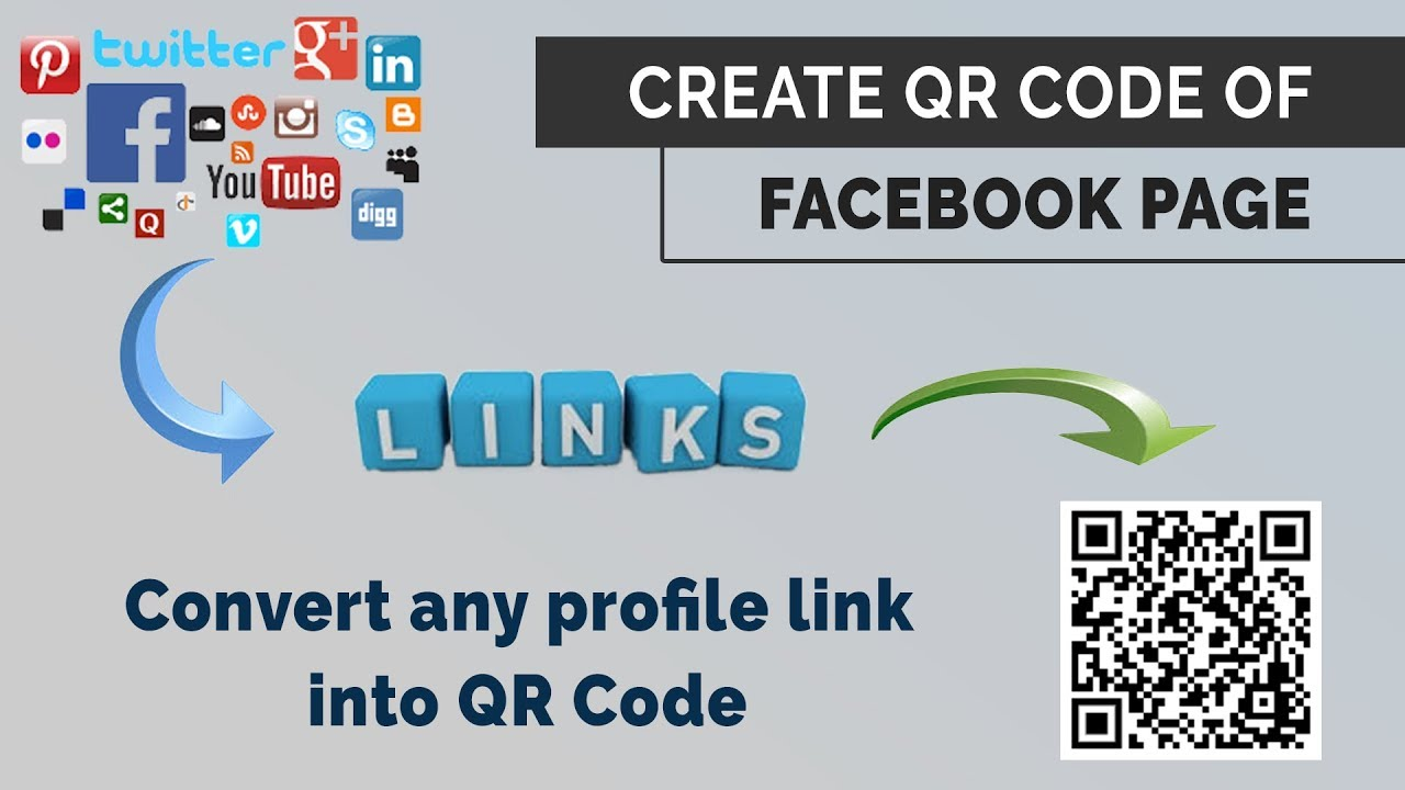 How to Generate QR code for Facebook Page | create QR code of any Link