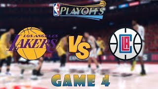 Los Angeles Clippers vs. Los Angeles Lakers - Game 4 - Conf. Finals - 2020 NBA Playoffs! - NBA 2K20